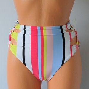 Bar III NWT Bikini Bottom Bold Stripe